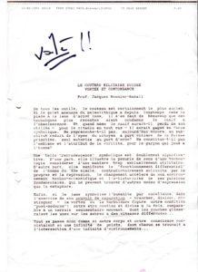 VAF 1991 Monnier Raball Couteau militaire suisse vortex contondance PP525 1805