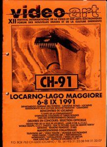 VAF 1991 Programme Exposition CH91 Videoraum PP525 1805