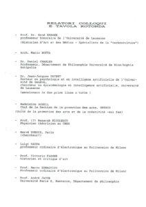 VAF 1991 Rapporteurs Colloque Table ronde Masi