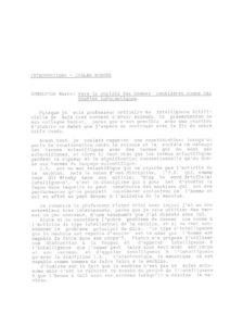 VAF 1991 Somalvico Vers societe homme consideres bipoles informatiques Masi