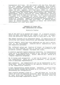 VAF 1991 Tonfoni Linguaggio come arte Visiva resume Masi