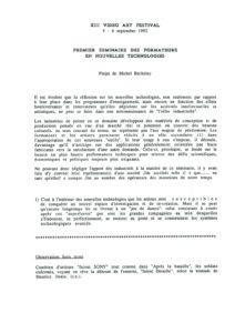 VAF 1992 Becholey premier seminaire formateurs Masi
