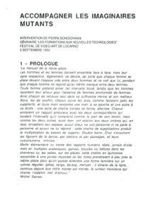 VAF 1992 Bongiovanni accompagner imaginaires Mutants Masi
