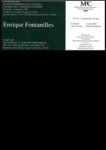 VAF 1992 Carton invitation Fontanilles Masi