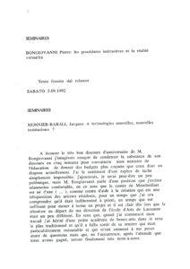 VAF 1992 Colloques Transcriptions Masi