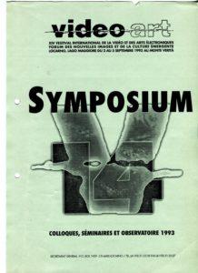VAF 1993 A Symposium Formateurs Brochure Annotee AbstractsPP525 1807 2002