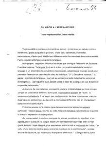 VAF 1993 Berger rene prolegomene miroir apres histoire PP525 639