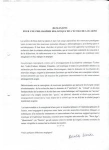 VAF 1993 Bianda Philosophie holistique Ecole Locarno PP525 1807