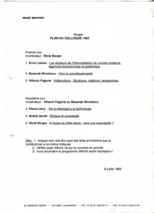 VAF 1993 Colloque Plan Projet PP525 1807
