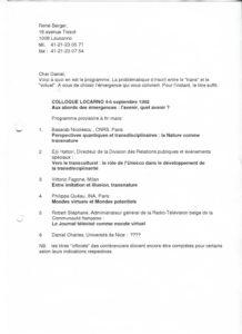 VAF 1993 Colloque Projet Berger PP525 1807