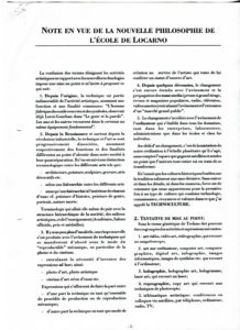 VAF 1993 Textes Ecole Locarno PP525 1807