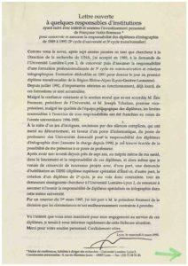 VAF 1995 19950308 Holtz Bonneau Lettre ouverte Masi