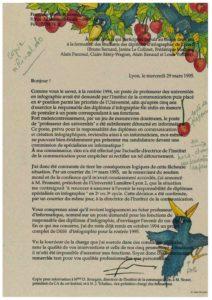 VAF 1995 19950329 Holtz Bonneau Lettre ouverte demission Masi