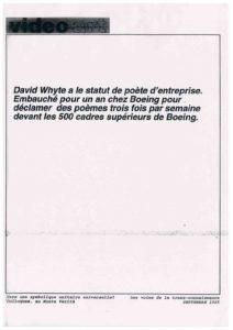 VAF 1995 199509 Whyte Colloque Vers Symbolique unitaire universelle Voies transconnaissance Masi