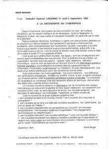 VAF 1995 Berger Projet Cyberspace PP525 1809