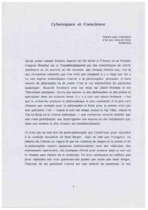 VAF 1995 Camus Cyberespace Conscience Masi