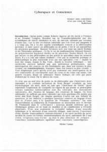 VAF 1995 Camus Cyberespace conscience 19950630 Masi