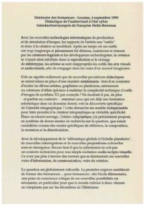 VAF 1995 Holtz Bonneau Didactique Audiovisuel Texte 19950402 Masi