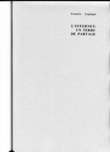 VAF 1995 Lapique Internet terre partage PP525 1809