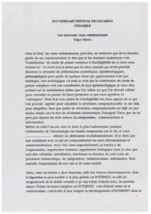 VAF 1995 Morin Nouveaux Vases Communiquants Transcription du 19960322 Masi