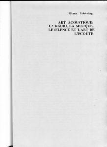 VAF 1995 Schoning Art acoustique PP525 1809