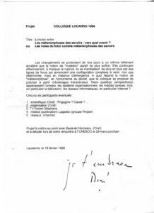 VAF 1996 Berger Projet Colloque 19960226 PP525 1810