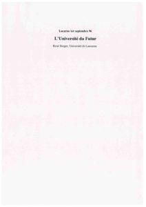 VAF 1996 Berger actes colloques Universite futur 199611063 Masi