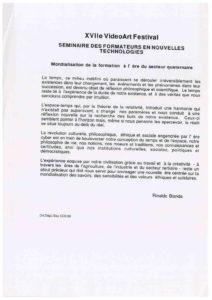 VAF 1996 Bianda Mondialisation formation ere secteur quaternaire Masi