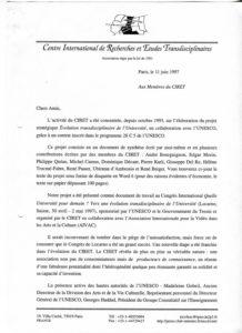 VAF 1997 19970611 Nicolescu Membres Ciret Programme Colloque Ciret PP525 1811