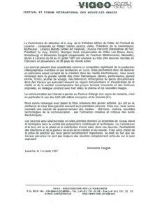 VAF 1997 Communique Presse 19970801 Masi