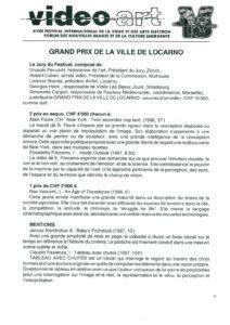 VAF 1997 Communique Presse 19970812 Palmares Bilan Masi