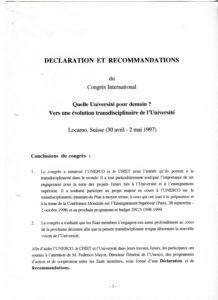 VAF 1997 Congres Quelle Universite pour Demain Declarations Conclusion PP525 1811