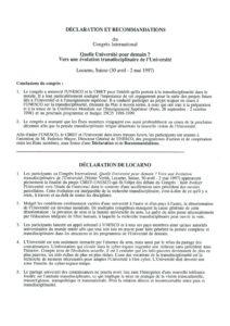VAF 1997 Congres international Conclusion 19970502 Masi