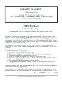 VAF 1997 Revue Presse Congres Universite Futur ciret Nicolescu2 Masi