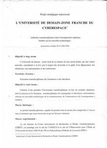 VAF 1997 Universite demain Cyberespace Programme Projet PP525 1811