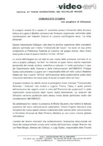 VAF 1998 19981117 Communique Presse Colloque Defis Internet Masi