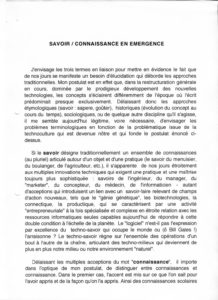 VAF 1998 Berger Metacolloque Savoir Connaissance emergence 199812 PP525 1813