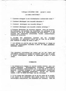 VAF 1998 Berger Projet Colloque 98 199803 PP525 1813