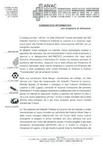 VAF 1998 Communique Colloque Defis Internet Masi