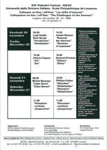 VAF 1998 Programme Colloque Defis Internet Masi