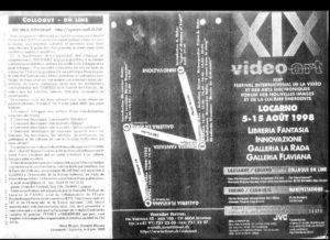 VAF 1998 Programme Depliant PP525 1812