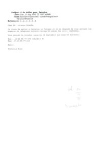 VAF 199908 Correspondance Kapuscinski Masi