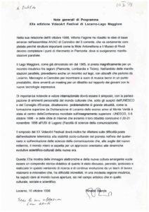 VAF 1999 Bianda Note generali di Programma XX VAF 19981010 Masi