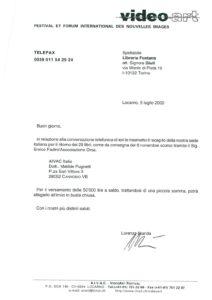 VAF 1999 Correspondance Orsa PublicationLivre VAF Masi