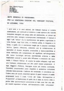 VAF 1999 Fagone Note generali di Programma XX VAF 19981008 Masi