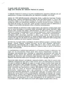 VAF 1999 Gazzano punto sulle arti elettroniche anni novanta del VAF Masi