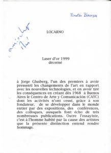 VAF 1999 Laser Or Glusberg EPFL PP525 1813
