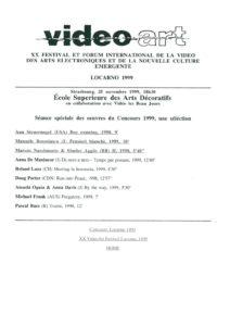 VAF 1999 Programme Palmares Masi