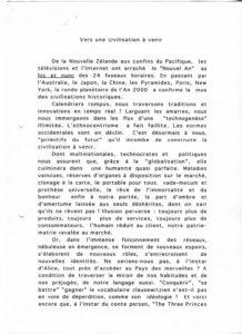 VAF 2000 Berger Vers Civilisation a venir 200001 PP525 1814