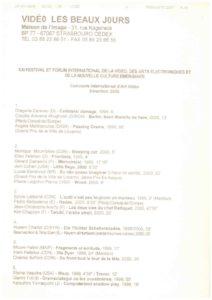 VAF 2000 Programme Beaux Jours Masi